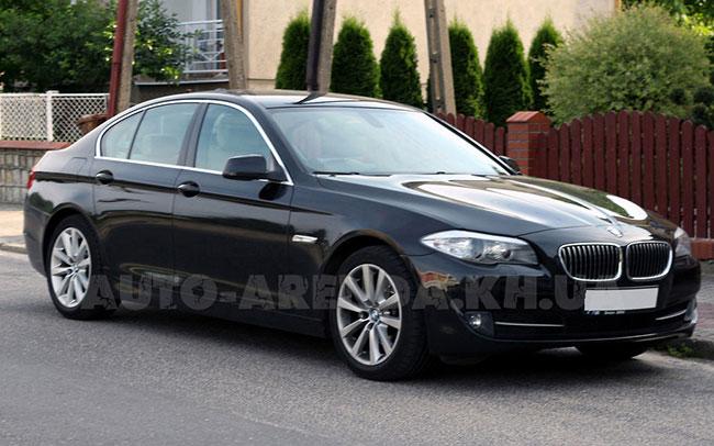 Аренда BMW 5 F10 на свадьбу Харків