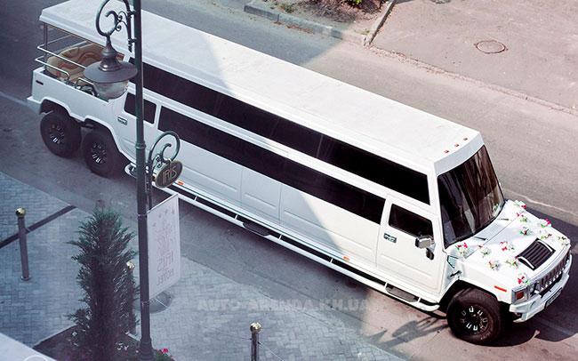 Аренда Лимузин Mega Hummer H2 на свадьбу Харьков