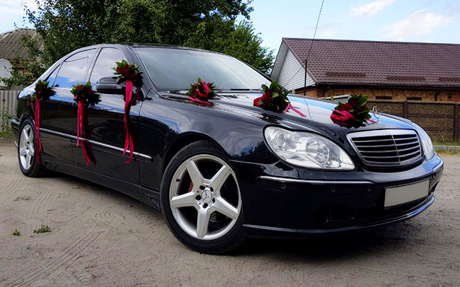 Аренда Mercedes S-Class W220 на свадьбу Харків