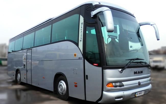 Аренда Автобус MAN 50 мест на свадьбу Харьков