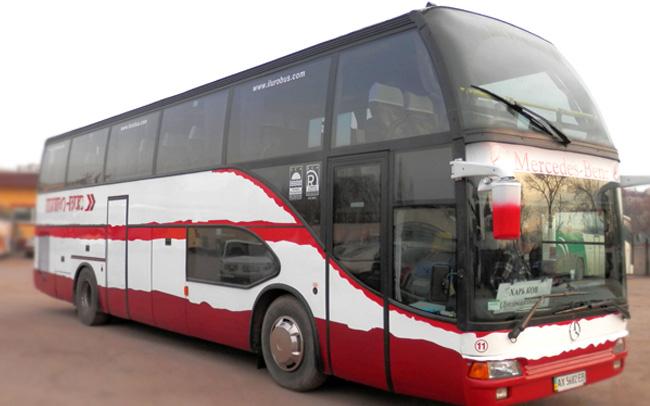 Аренда Автобус Mercedes 0404 RHD на свадьбу Харьков