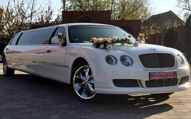 Аренда Лимузин Bentley на свадьбу Харьков