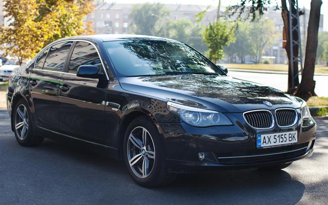 Аренда BMW 5 E60 на свадьбу Харьков
